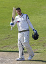 Peter Handscomb smashed a rapid hundred during the evening session, Lancashire v Yorkshire, County Championship, Division One, Old Trafford, 4th day, May 22, 2017