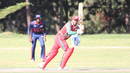 Zeeshan Maqsood flicks through the on side on his way to 46, Oman v USA, ICC World Cricket League Division Three, Entebbe, May 23, 2017