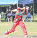 Mohammad Nadeem punches through the off side, Oman v USA, ICC World Cricket League Division Three, Entebbe, May 23, 2017