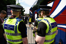Police officials outside the Headingley ground before the start of the game, England v South Africa, 1st ODI, Headingley, May 24, 2017