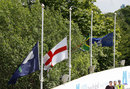 Flags were at half-mast in response to the Manchester bombing, England v South Africa, 1st ODI, Headingley, May 24, 2017