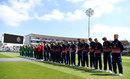 Both teams observed a minute's silence before play, England v South Africa, 1st ODI, Headingley, May 24, 2017