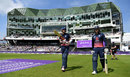 Alex Hales and Jason Roy head out to bat, England v South Africa, 1st ODI, Headingley, May 24, 2017