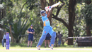 Neville Liyanage drives through cover for a boundary during his 30, Malaysia v USA, ICC World Cricket League Division Three, Kampala, May 24, 2017