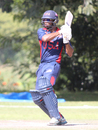 Camilus Alexander pulls over mid-on for a boundary in his unbeaten 30, Malaysia v USA, ICC World Cricket League Division Three, Kampala, May 24, 2017