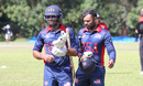 Camilus Alexander and Ibrahim Khaleel walk off after an unbeaten 51-run stand, Malaysia v USA, ICC World Cricket League Division Three, Kampala, May 24, 2017