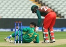 Fahim Ashraf is helped up Tamim Iqbal, Bangladesh v Pakistan, Champions Trophy warm-ups, Birmingham, May 27, 2017