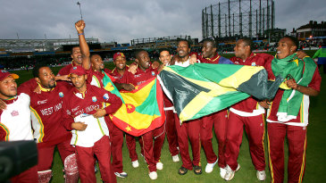 West Indies celebrate the win