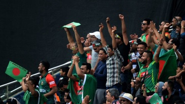 Bangladesh fans turned up in good numbers to cheer their team on