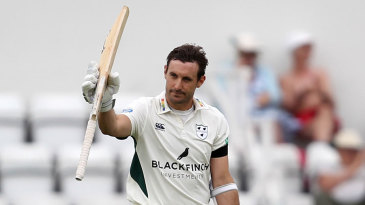Daryl Mitchell led Worcestershire's reply with a century