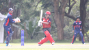 Bhavindu Adhihetty pulls through midwicket during his 67, Canada v USA, ICC World Cricket League Division Three, Kampala, May 27, 2017