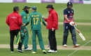 AB de Villiers was upset when the umpires, Chris Gaffeney and Rob Bailey, queried the state of one of the match balls, England v South Africa, 2nd ODI, Ageas Bowl, May 27, 2017