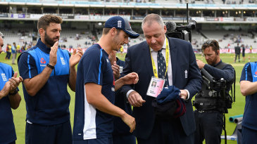 Toby Roland-Jones was handed his cap by Angus Fraser