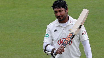 Kumar Sangakkara fell 16 runs short of a sixth consecutive hundred