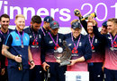 England celebrate their series win, England v South Africa, 3rd ODI, Lord's, May 29, 2017
