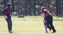 Naeem Bardai completes a stumping of Ibrahim Khaleel, Uganda v USA, ICC World Cricket League Division Three, Entebbe, May 29, 2017