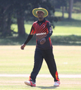 Uganda captain Davis Karashani checks his field settings, Uganda v USA, ICC World Cricket League Division Three, Entebbe, May 29, 2017