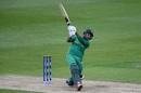 Faheem Ashraf mows one over the leg side, Bangladesh v Pakistan, Champions Trophy warm-ups, Birmingham, May 27, 2017