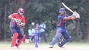 Sagar Patel cuts through point for a boundary, Singapore v USA, ICC World Cricket League Division Three, 3rd place playoff, Kampala, May 30, 2017