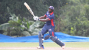 Steven Taylor drives over cover for a boundary to move past 1,000 career one-day runs for USA, Singapore v USA, ICC World Cricket League Division Three, 3rd place playoff, Kampala, May 30, 2017