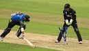 A direct hit from Trent Boult accounted for Kusal Mendis' wicket, New Zealand v Sri Lanka, Champions Trophy, warm-ups, Birmingham, May 30, 2017