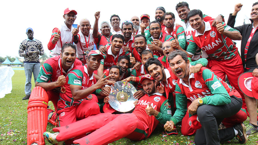 Oman celebrate after being crowned tournament champions