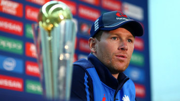 Eoin Morgan will hope to be lifting the Champions Trophy in two-and-a-half weeks