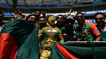 Bangladesh fans get ready for the start