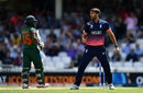 Liam Plunkett celebrates the wicket of Imrul Kayes, England v Bangladesh, Champions Trophy, Group A, The Oval, June 1, 2017