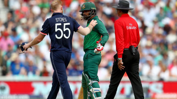 Ben Stokes and Tamim Iqbal got into a heated discussion