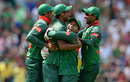 Mushfiqur Rahim embraces Mustafizur Rahman after his catch to remove Jason Roy, England v Bangladesh, Champions Trophy, Group A, The Oval, June 1, 2017