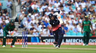 Joe Root leans into a drive