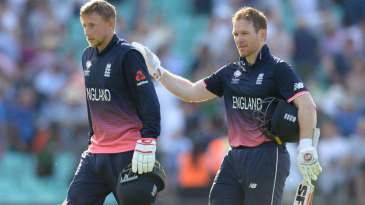 Joe Root and Eoin Morgan saw England home with an unbroken 143-run stand