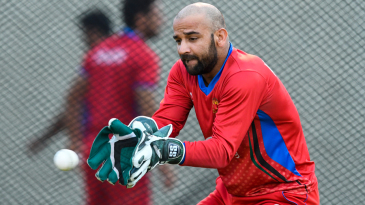 Shafiqullah hones his glovework during a training session