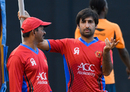 Asghar Stanikzai has a chat with coach Lalchand Rajput, West Indies v Afghanistan, St. Kitts, June 1, 2017