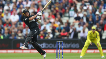 Luke Ronchi played some flashy strokes after the rain break