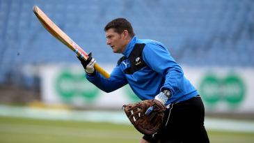 Martyn Moxon, Yorkshire's director of cricket, joins the warm-up
