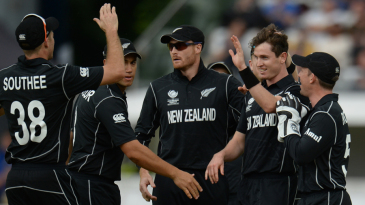 Adam Milne inflicted two early blows to Australia's chase, removing Aaron Finch and Moises Henriques off consecutive overs