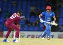 Kesrick Williams removes the bails to run Usman Ghani out, West Indies v Afghanistan, 1st T20, Basseterre, June 2, 2017