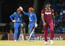 Rashid Khan and Amir Hamza shared a 36-run, ninth-wicket stand, West Indies v Afghanistan, 1st T20, Basseterre, June 2, 2017