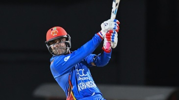Rashid Khan slaps a six over long-off