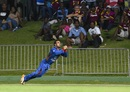 Samiullah Shenwari takes a stunning catch in the deep, West Indies v Afghanistan, 1st T20, Basseterre, June 2, 2017