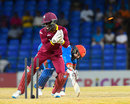 Chadwick Walton whips off the bails to run out Mohammad Nabi, West Indies v Afghanistan, 2nd T20I, St Kitts, June 3, 2017