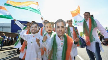 India fans gather outside Edgbaston