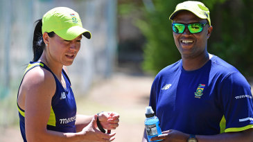 Hilton Moreeng (right), the South Africa Women's coach