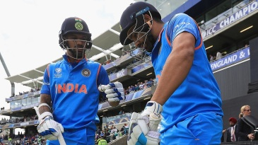 Shikhar Dhawan and Rohit Sharma were reunited at the top