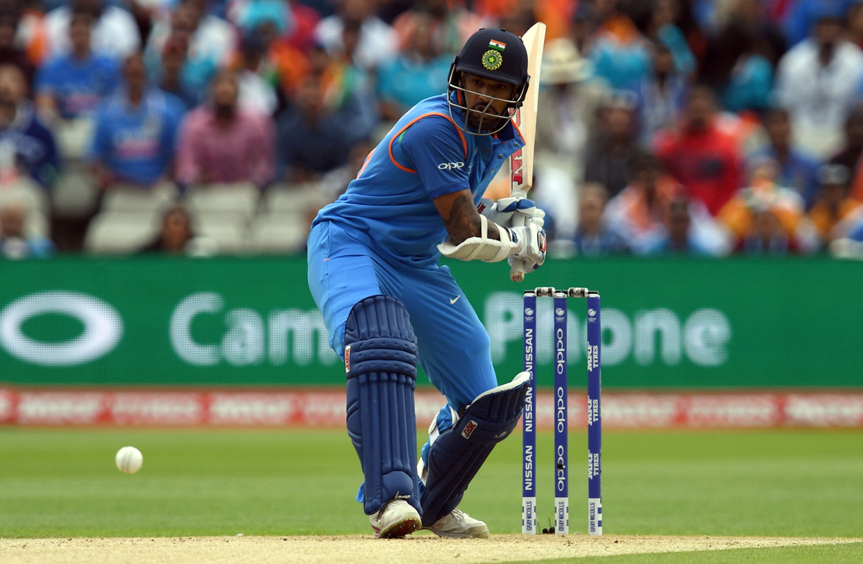 A lot of Shikhar Dhawan's success in the Champions Trophy is down to staying still and playing the ball late