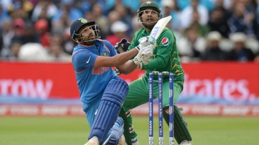 Rohit Sharma unleashes a slog-sweep