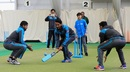 Haris Sohail and Hassan Ali play cricket with some schoolchildren, Birmingham, June 5, 2017
