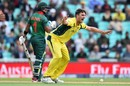 Pat Cummins requests for the wicket of Sabbir Rahman, Australia v Bangladesh, Champions Trophy 2017, The Oval, London, June 5, 2017